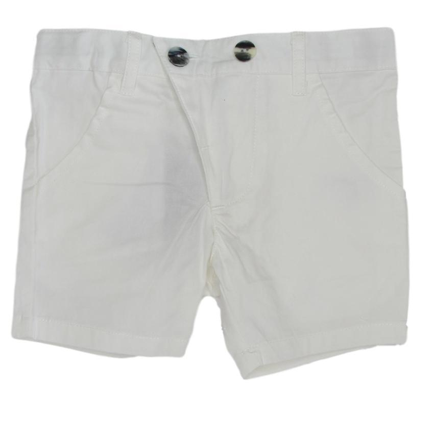 Kipp Off-White Polished Cotton Shorts  JellyBeanz Kids