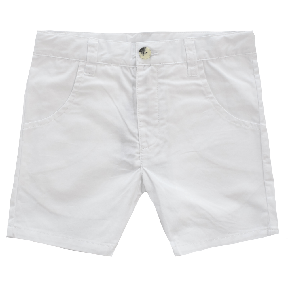 Kipp Kipp White Polished Shorts  JellyBeanz Kids