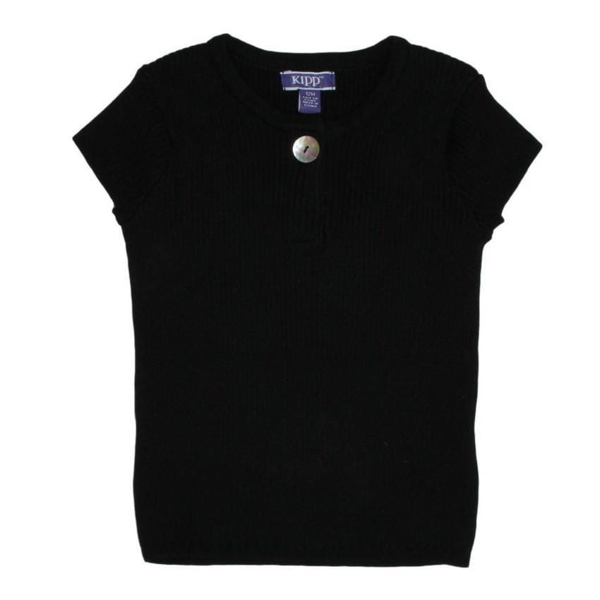 Kipp Black Ribbed Knit Top  JellyBeanz Kids