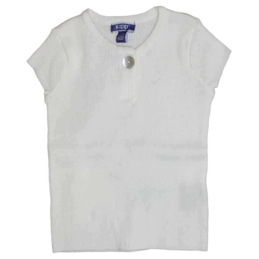 Kipp White Ribbed Knit Top  JellyBeanz Kids