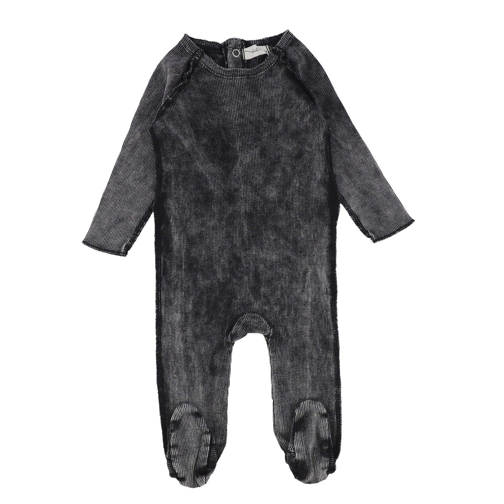 Lil Legs Footie Jellybeanzkids Lil Legs Black Wash Denim Footie
