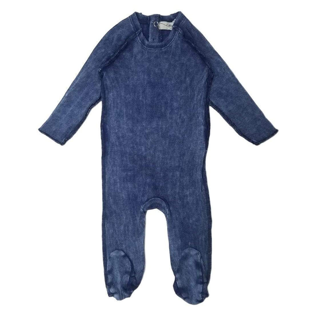 Lil Legs Footie Jellybeanzkids Lil Legs Blue Wash Denim Footie