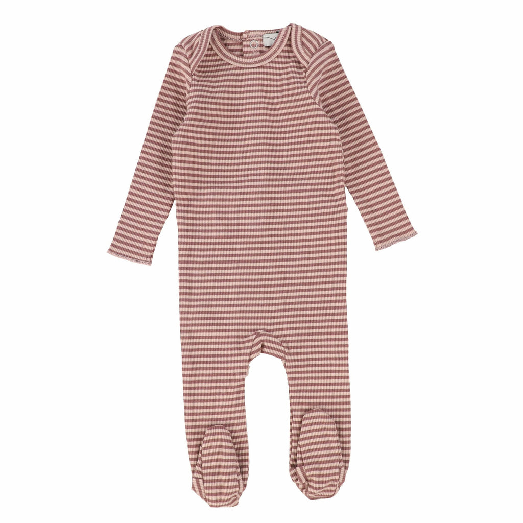 Lil Legs Mulberry Striped Footie