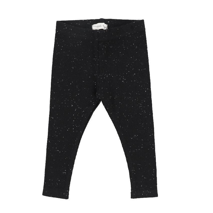Lil Legs Lil Legs Black Speckle Ribbed Leggings  JellyBeanz Kids