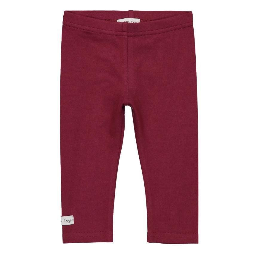 Lil Legs Lil Legs Burgundy Leggings  JellyBeanz Kids