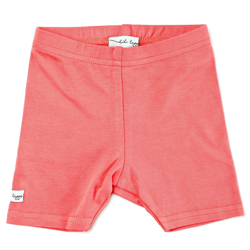 Lil Legs Leggings Jellybeanzkids Lil Legs Coral Short Leggings