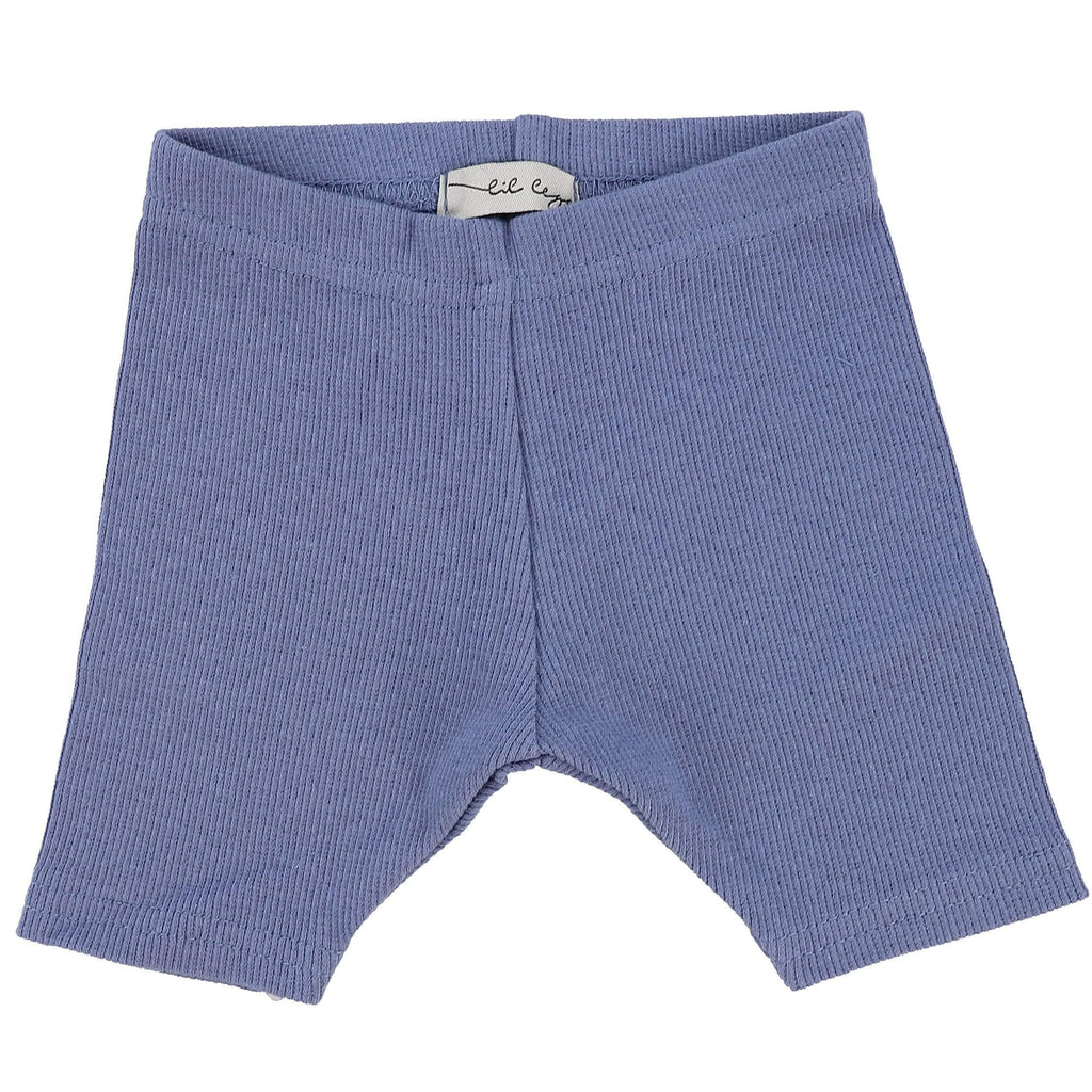 Lil Legs Deep Blue Ribbed Short Leggings - JellyBeanz Kids