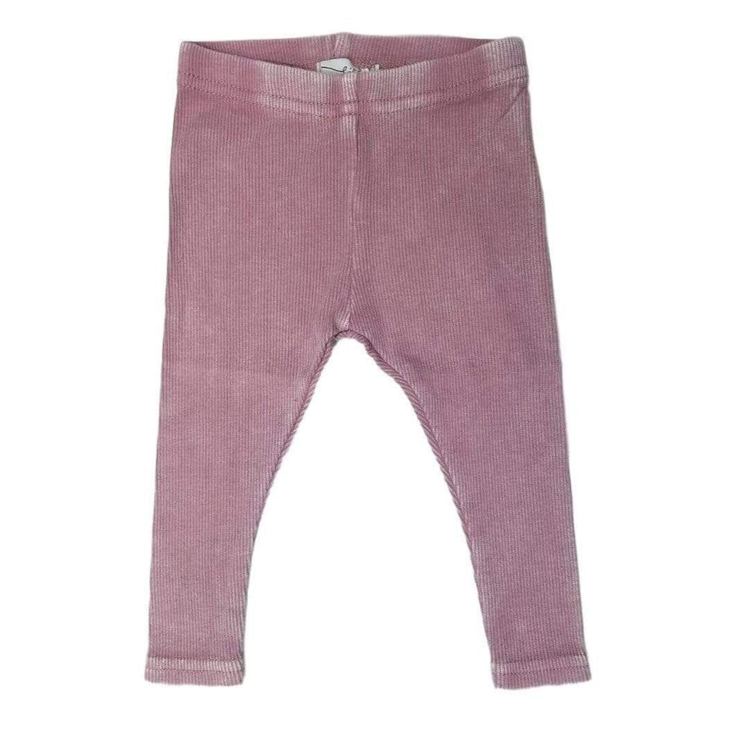 Lil Legs Leggings Jellybeanzkids Lil Legs Pink Wash Ribbed Leggings