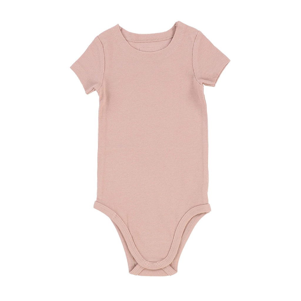 Lil Legs Blush Ribbed Onesie - JellyBeanz Kids