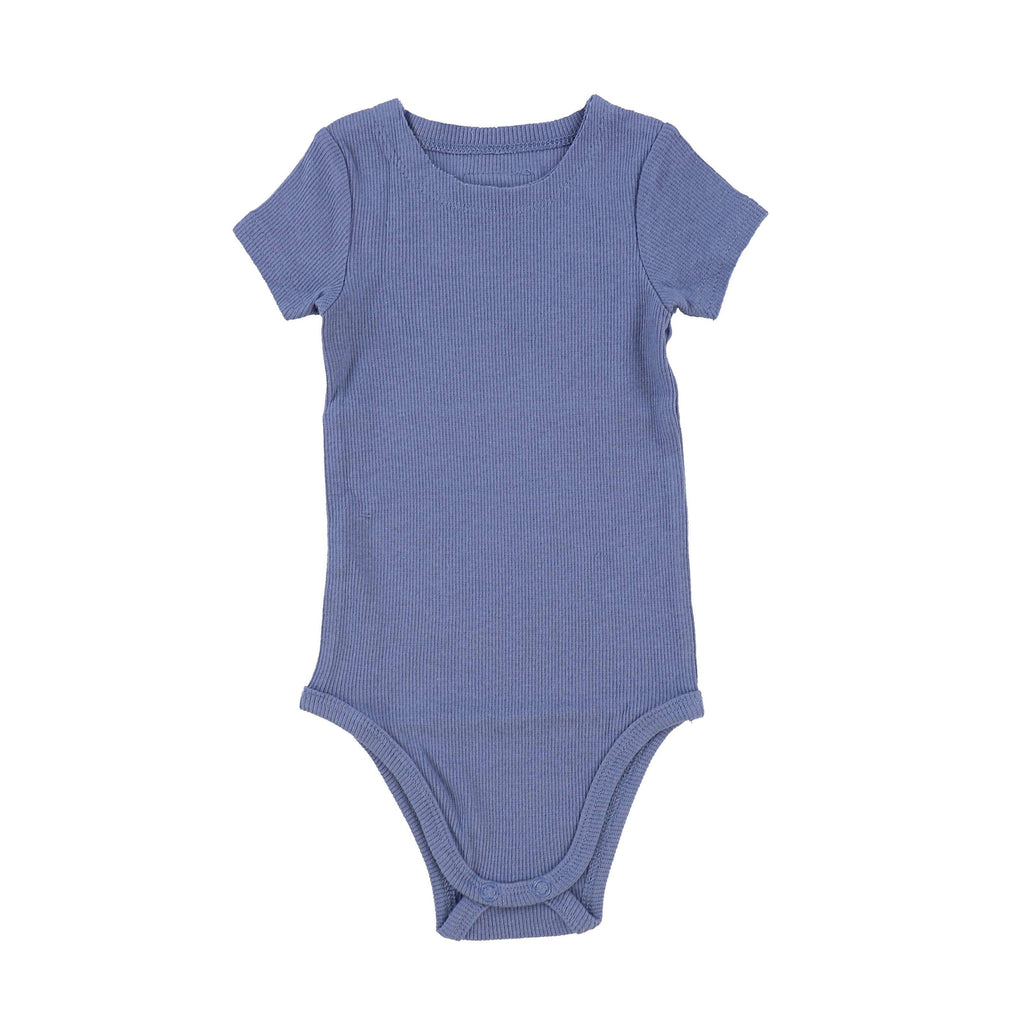 Lil Legs Deep Blue Ribbed Onesie - JellyBeanz Kids