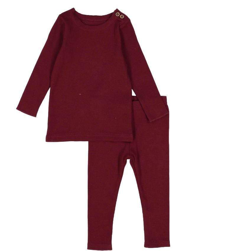 Lil Legs Set Jellybeanzkids Lil Legs Burgundy Ribbed Set