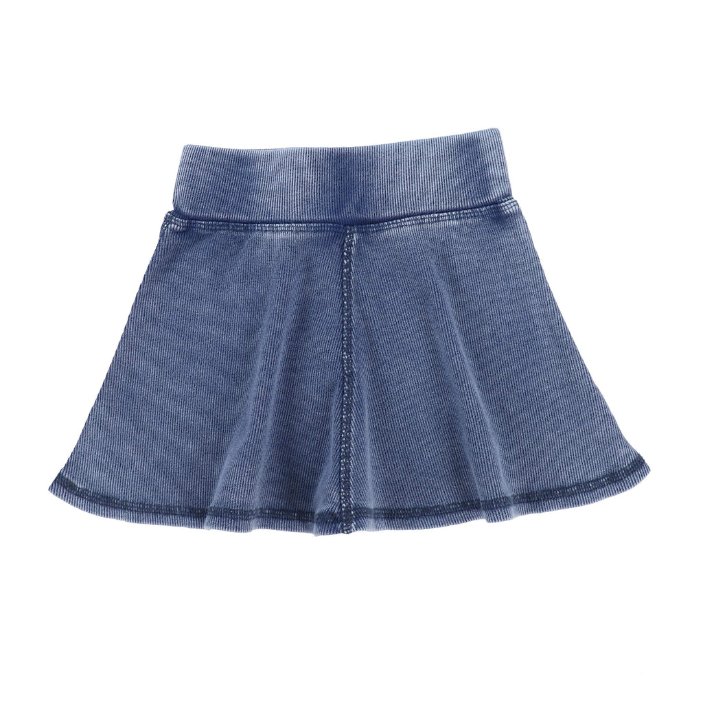 Lil Legs Lil Legs Blue Wash Ribbed Skirt  JellyBeanz Kids