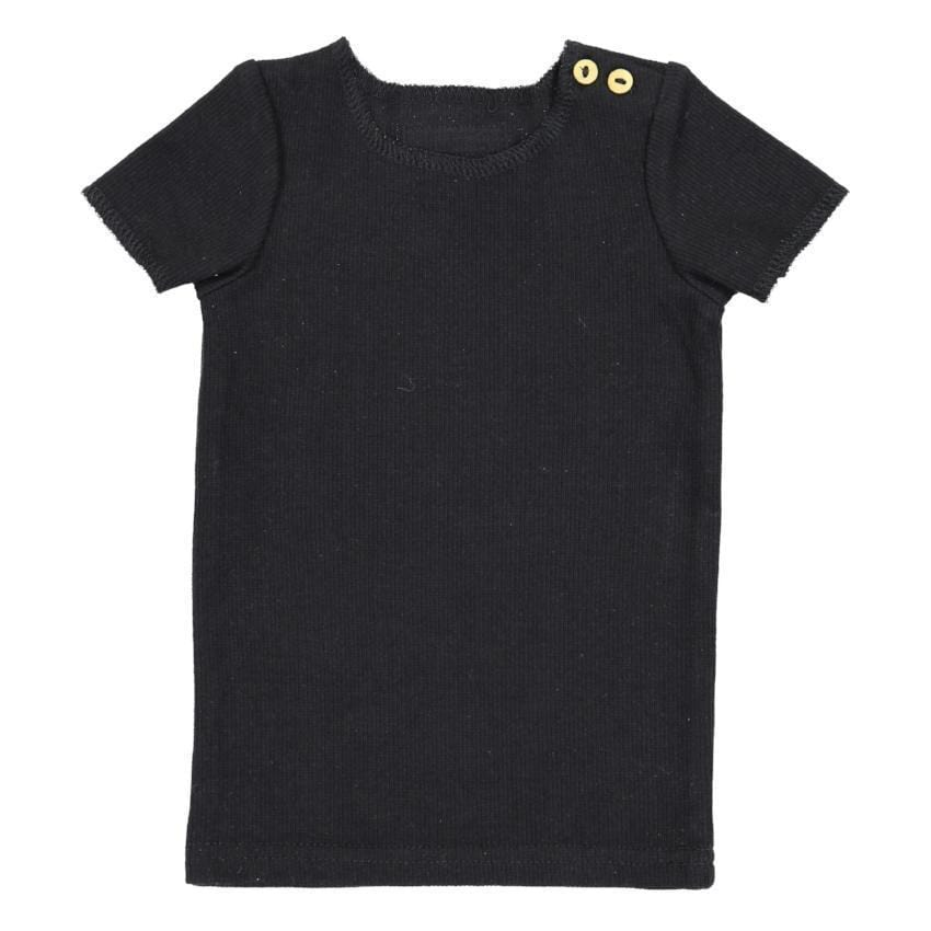 Lil Legs Black Ribbed Tee  JellyBeanz Kids