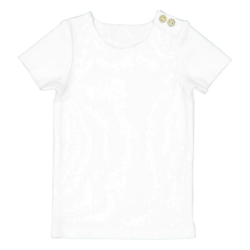 Lil Legs White Ribbed Tee  JellyBeanz Kids