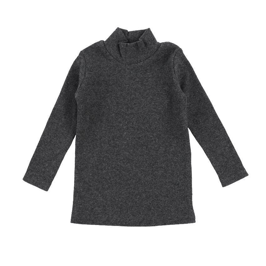 Lil Legs Dark Heather Ribbed Turtleneck - JellyBeanz Kids