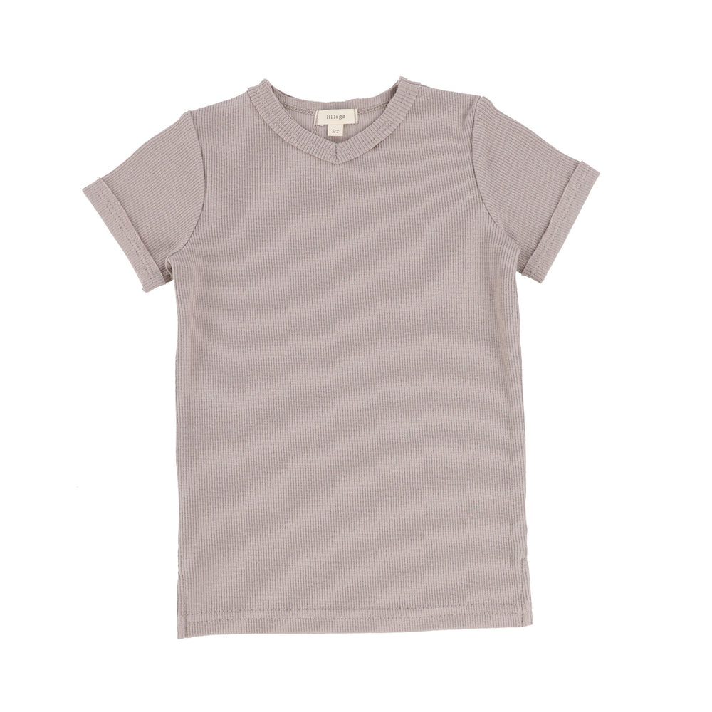 Lil Legs T-shirt Jellybeanzkids Lil Legs Taupe V Ribbed Tee