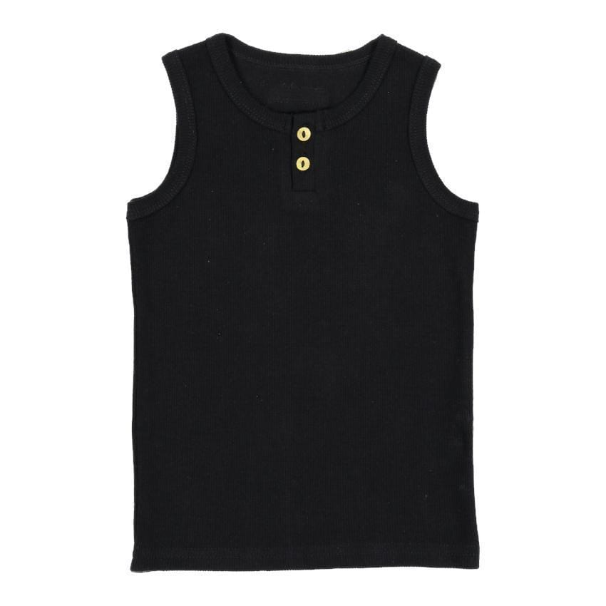 Lil Legs Black Ribbed Tank  JellyBeanz Kids