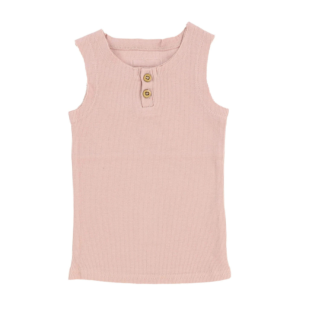 Lil Legs Blush Ribbed Tank - JellyBeanz Kids