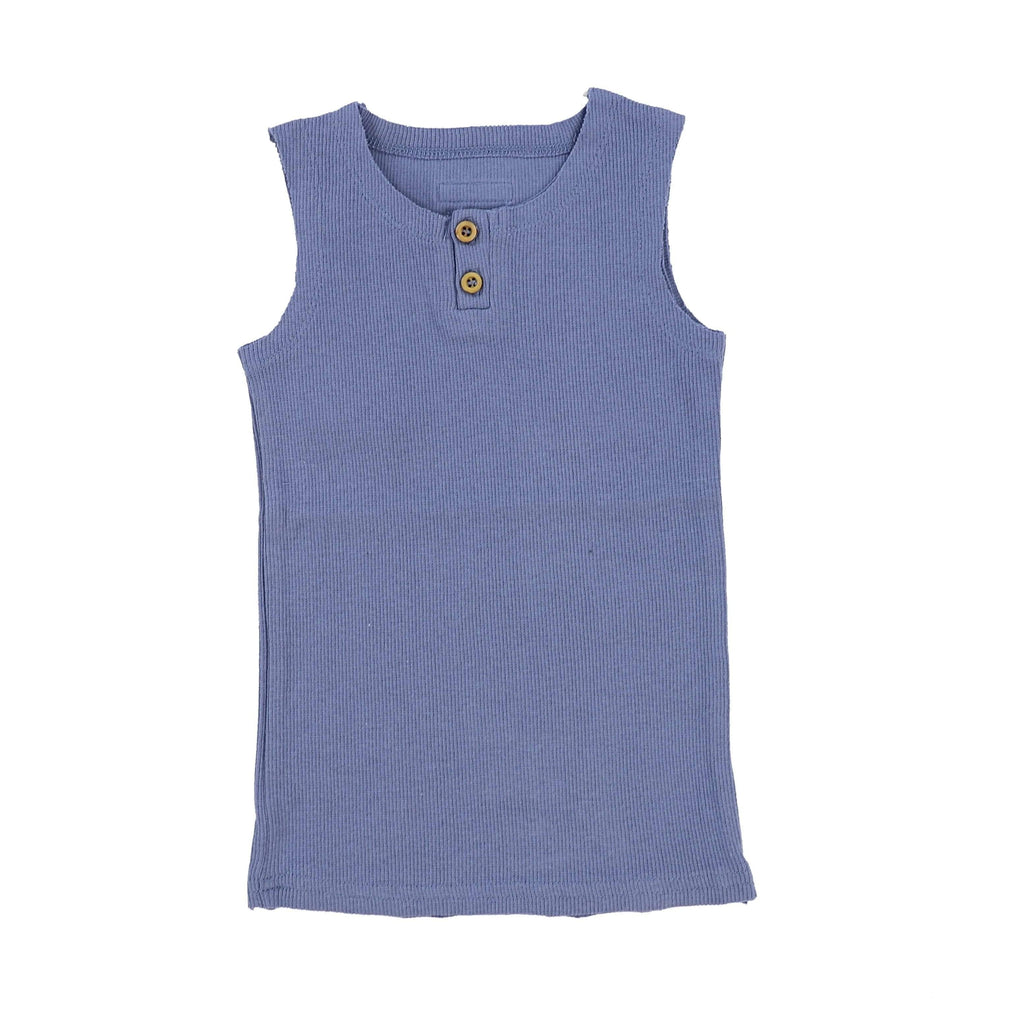 Lil Legs Deep Blue Ribbed Tank - JellyBeanz Kids