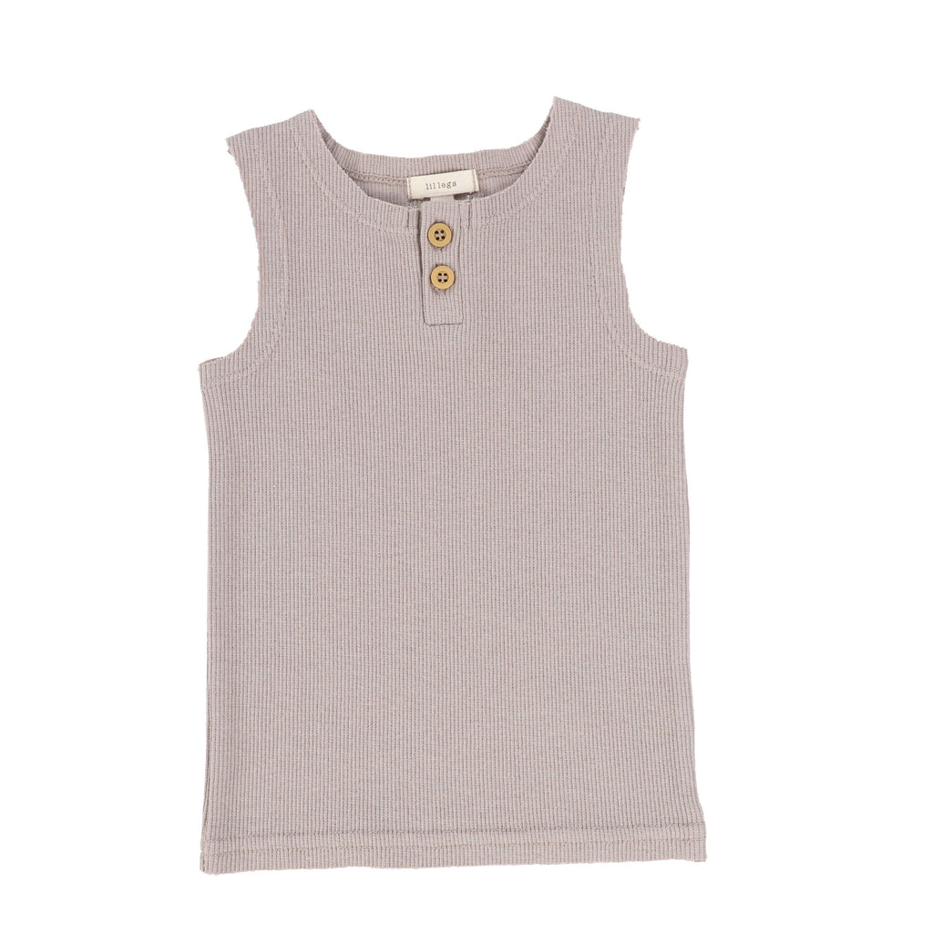 Lil Legs Tank Top Jellybeanzkids Lil Legs Taupe Ribbed Tank