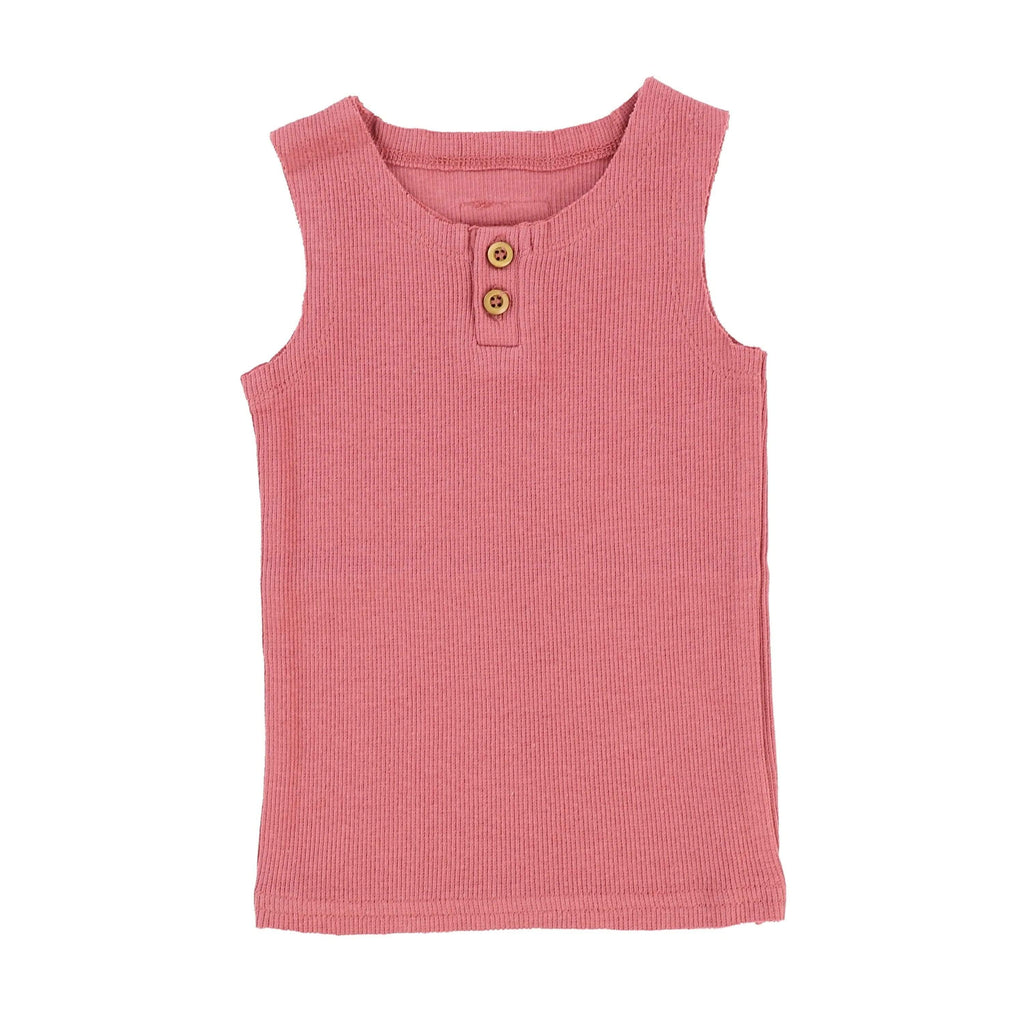 Lil Legs Watermelon Pink Ribbed Tank - JellyBeanz Kids