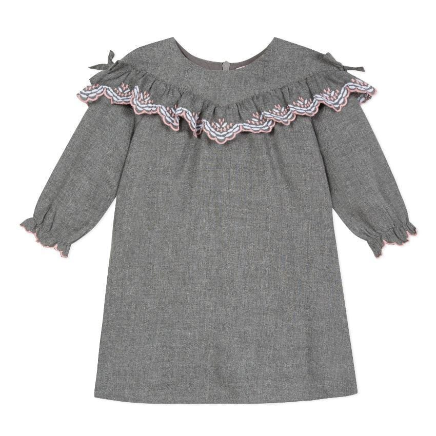 Lili Gaufrette Lili Gaufrette Embroidered Dress  JellyBeanz Kids