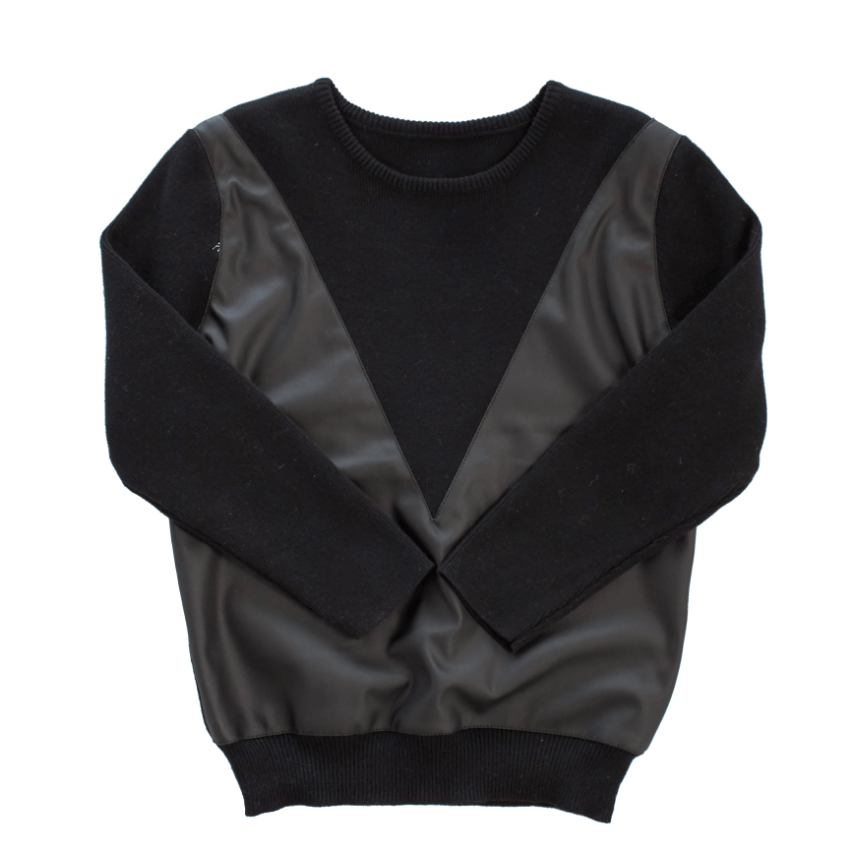 Little Cocoon Little Cocoon Leather Sweater  JellyBeanz Kids