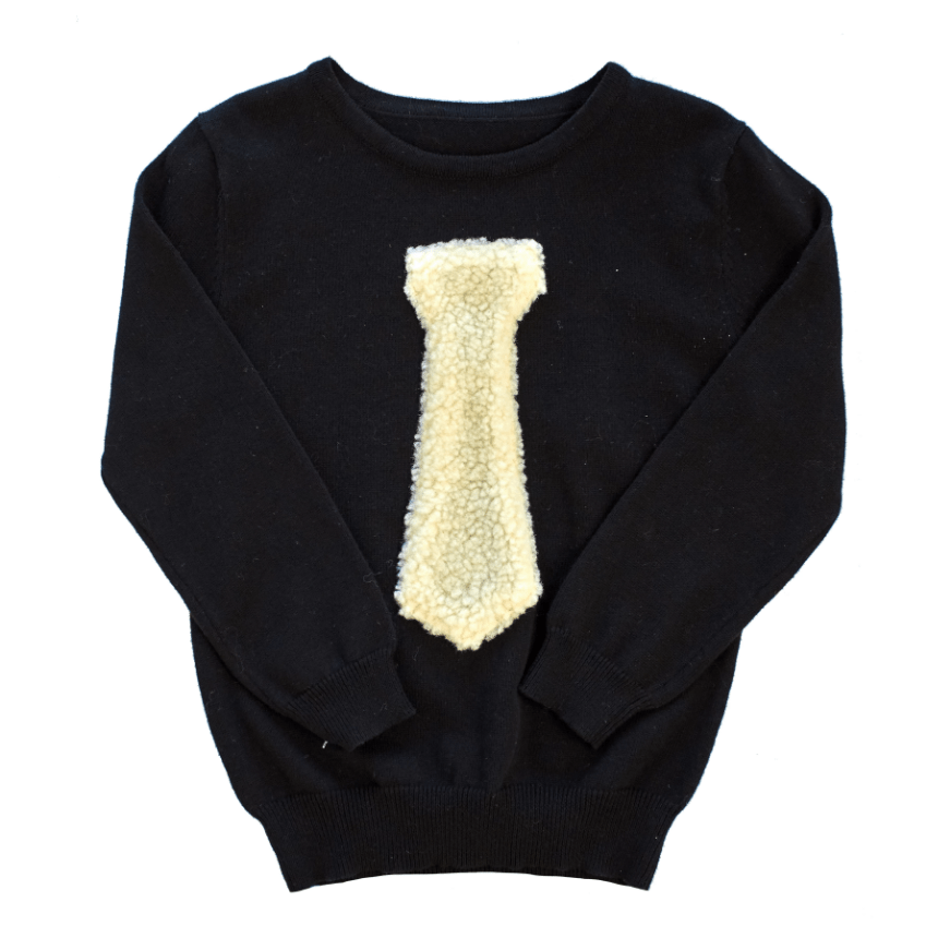 Little Cocoon Little Cocoon Sherpa Tie Sweater  JellyBeanz Kids