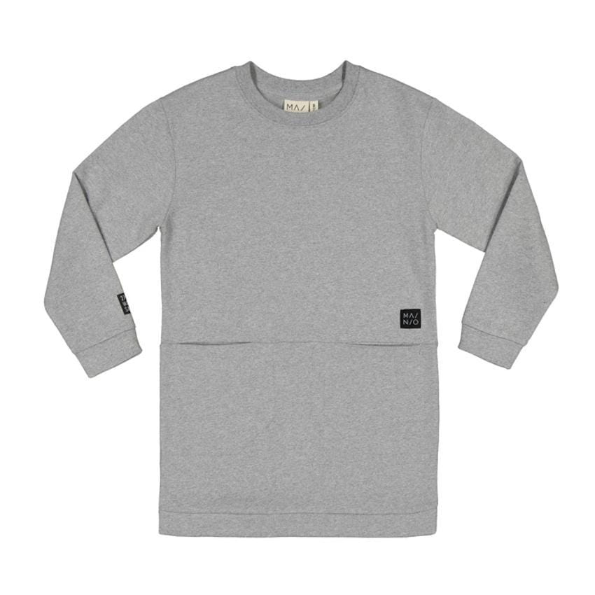 Mainio Mainio Grey Pocket Sweat Dress  JellyBeanz Kids