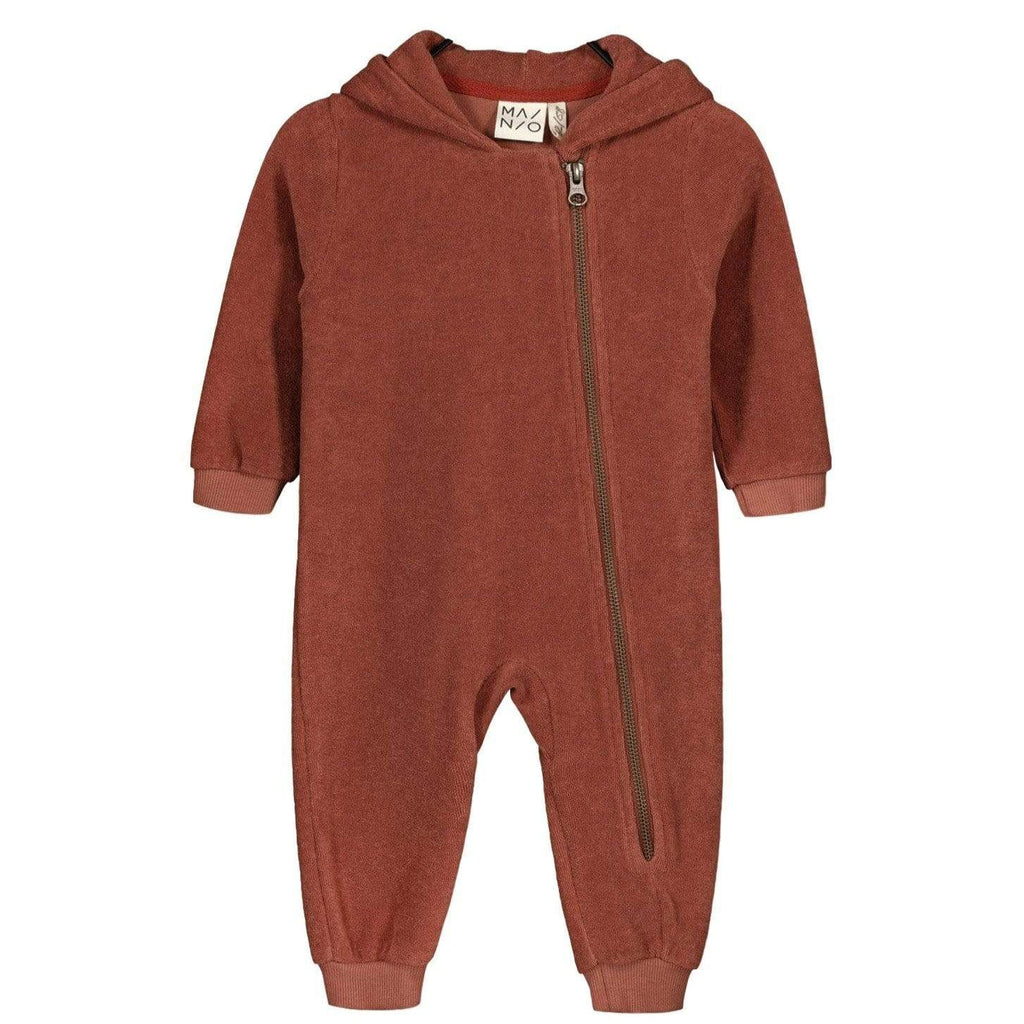 Mainio Romper Jellybeanzkids Mainio Terry Hooded Jumpsuit