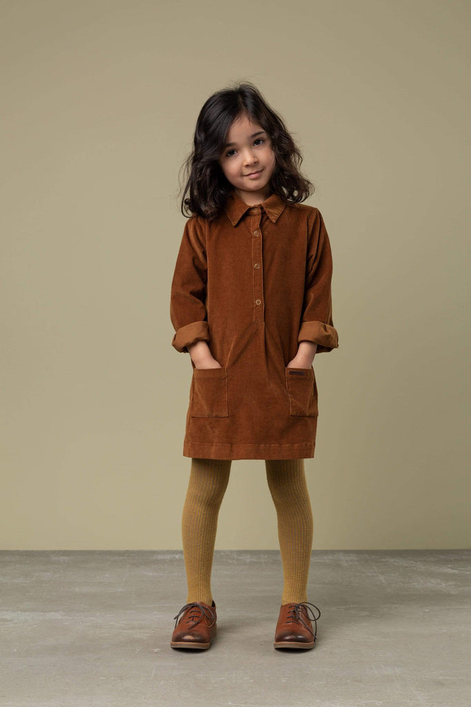MarMar Copenhagen Dress Jellybeanzkids MarMar Brown Corduroy Dress