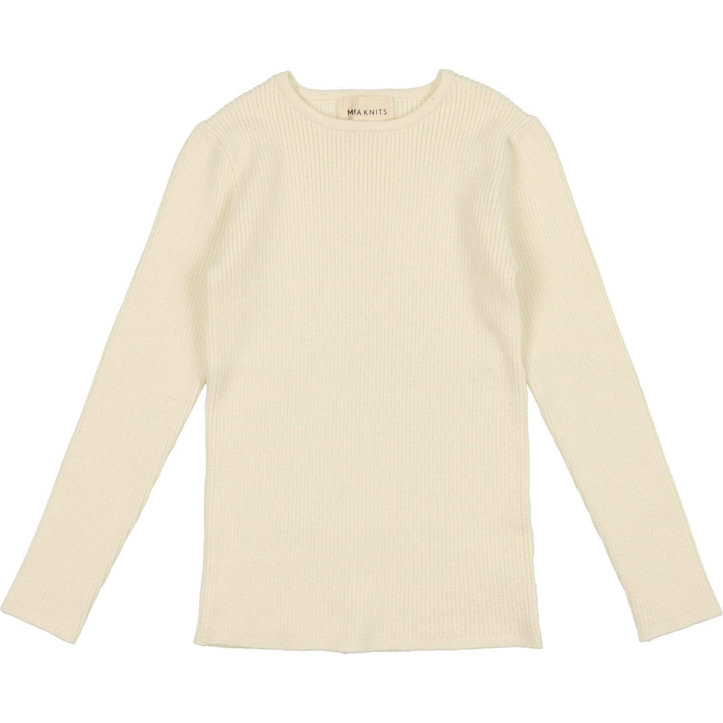 Mema Knits Sweater Jellybeanzkids Mema Cream Ribbed Knit Sweater