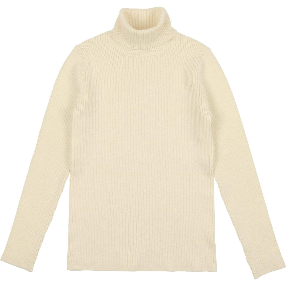 Mema Knits Sweater Jellybeanzkids Mema Cream Ribbed Knit Turtleneck