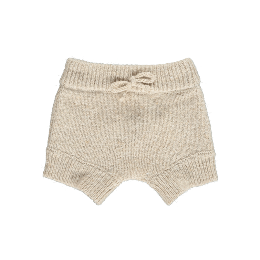 Mini Sibling Mini Sibling Knit Oat Shorts  JellyBeanz Kids