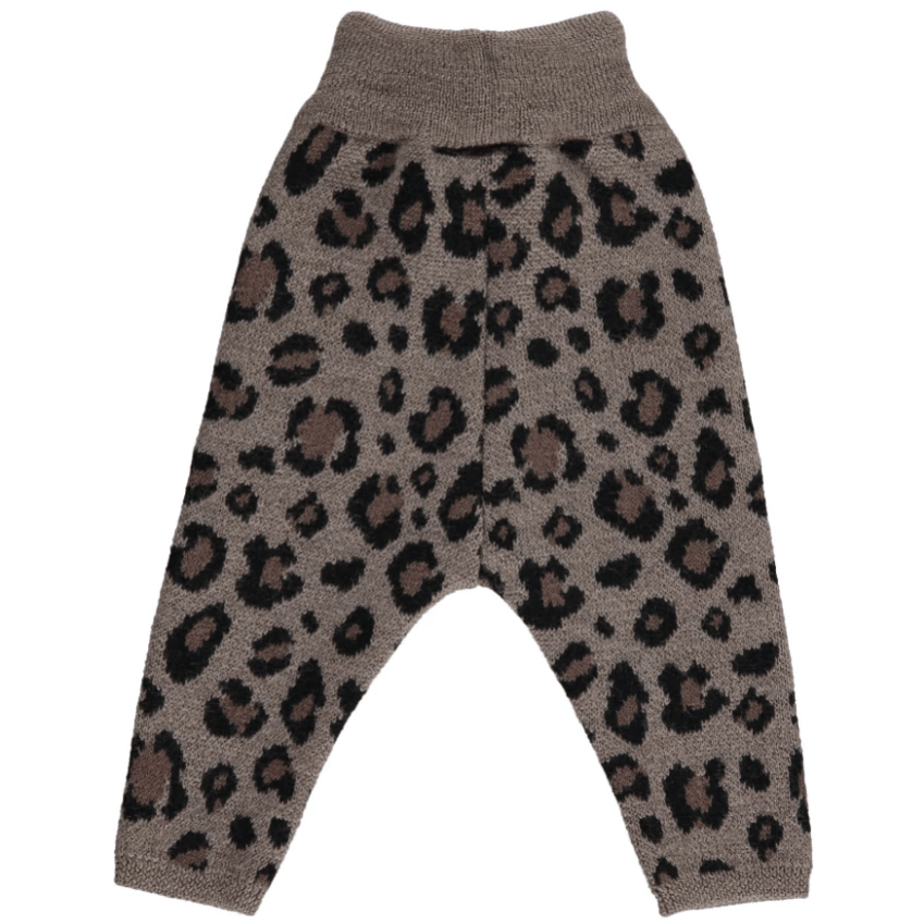 Mini Sibling Mini Sibling Leopard Knit Leggings  JellyBeanz Kids