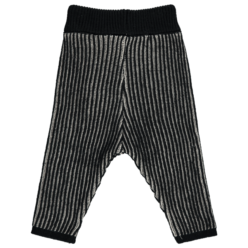 Mini Sibling Mini Sibling Striped Knit Leggings  JellyBeanz Kids