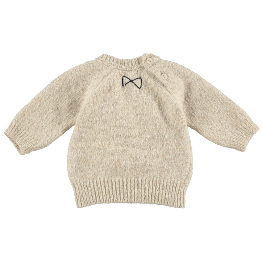 Mini Sibling Mini Sibling Knit Oat Sweater  JellyBeanz Kids