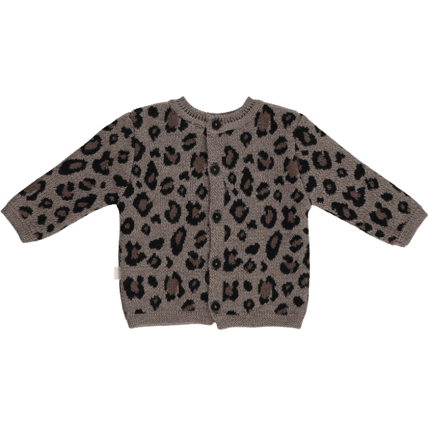Mini Sibling Mini Sibling Leopard Knit Sweater  JellyBeanz Kids