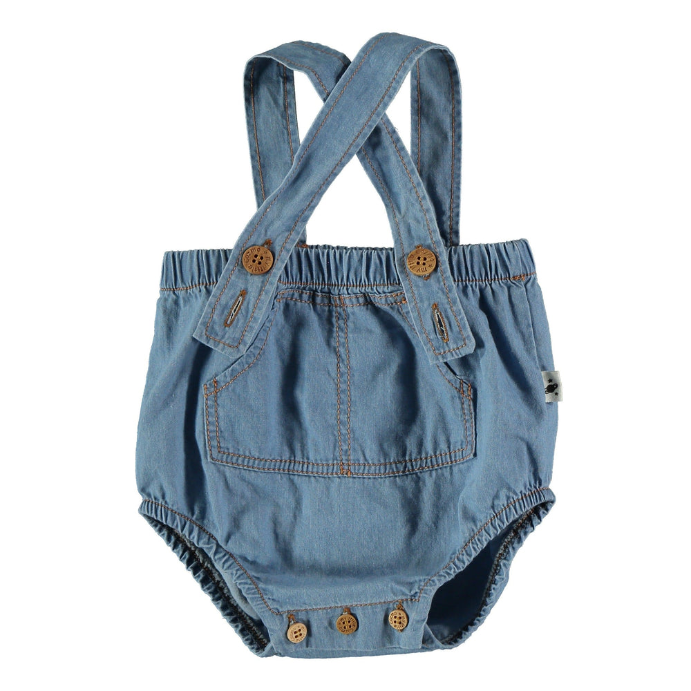 My Little Cozmo Romper Jellybeanzkids My Little Cozmo Chambray Bloomer with Straps