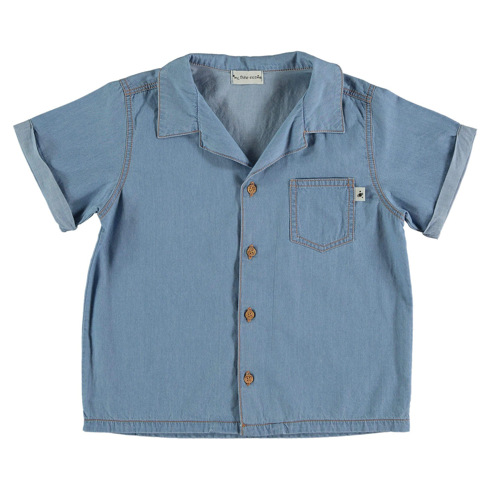 My Little Cozmo Shirt Jellybeanzkids My Little Cozmo Chambray Shirt