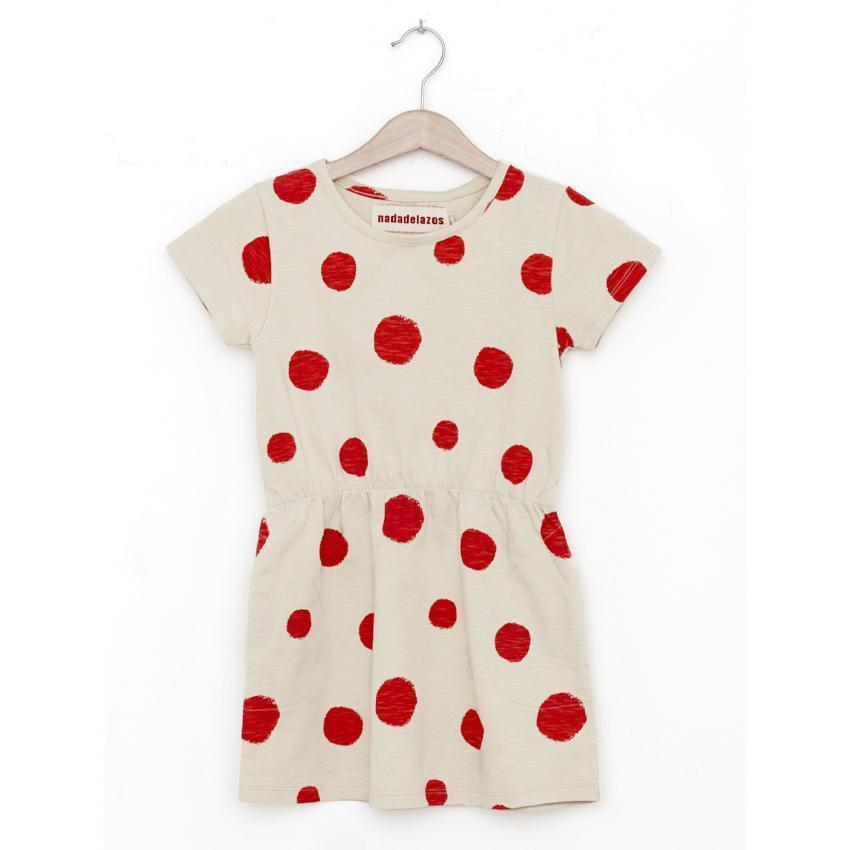 Nadadelazos Flamenco Dots Dress  JellyBeanz Kids