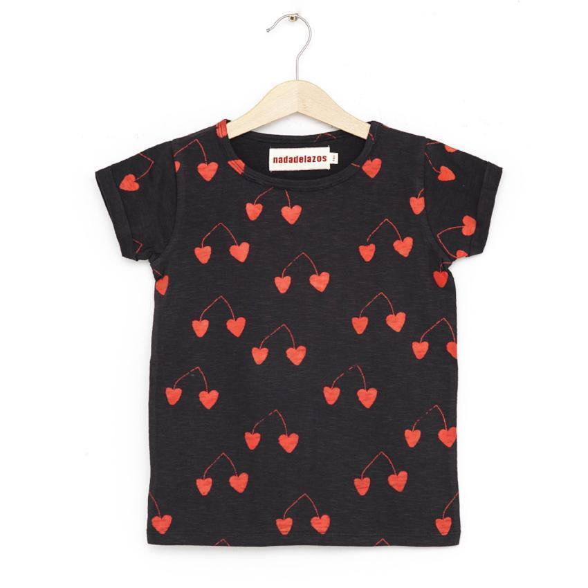 Nadadelazos Hearted Cherries Tee  JellyBeanz Kids