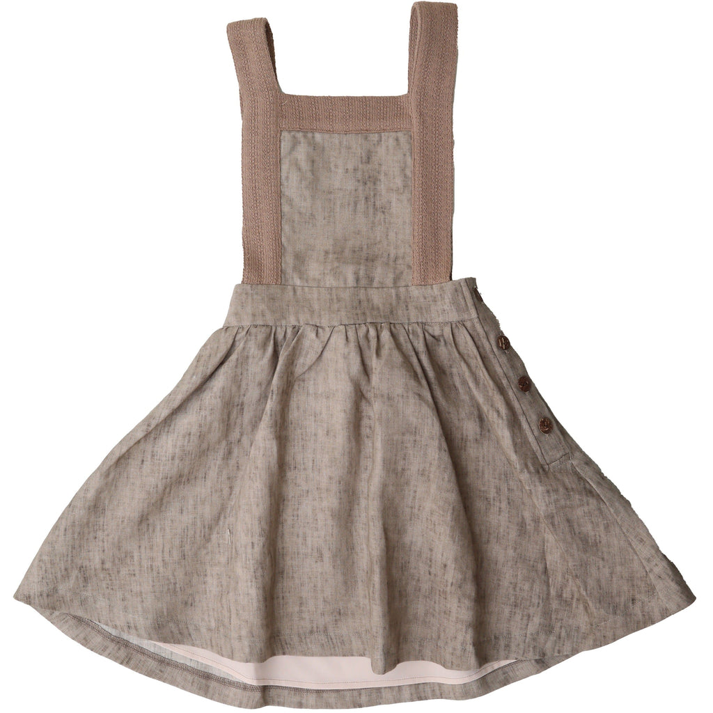 Noma Dress Jellybeanzkids Noma Mocha Crochet Trim Dress