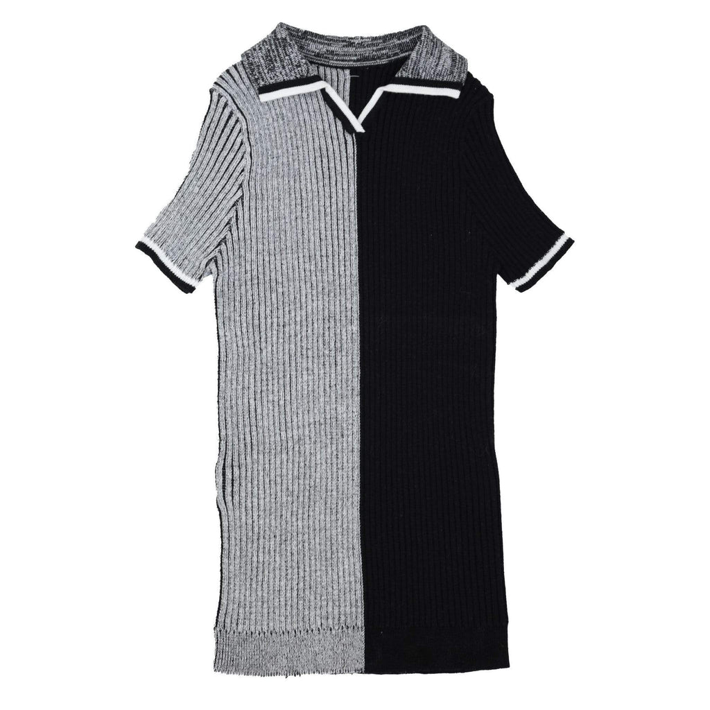 Noma Sweater Jellybeanzkids Noma Black Colorblock Ribbed Polo