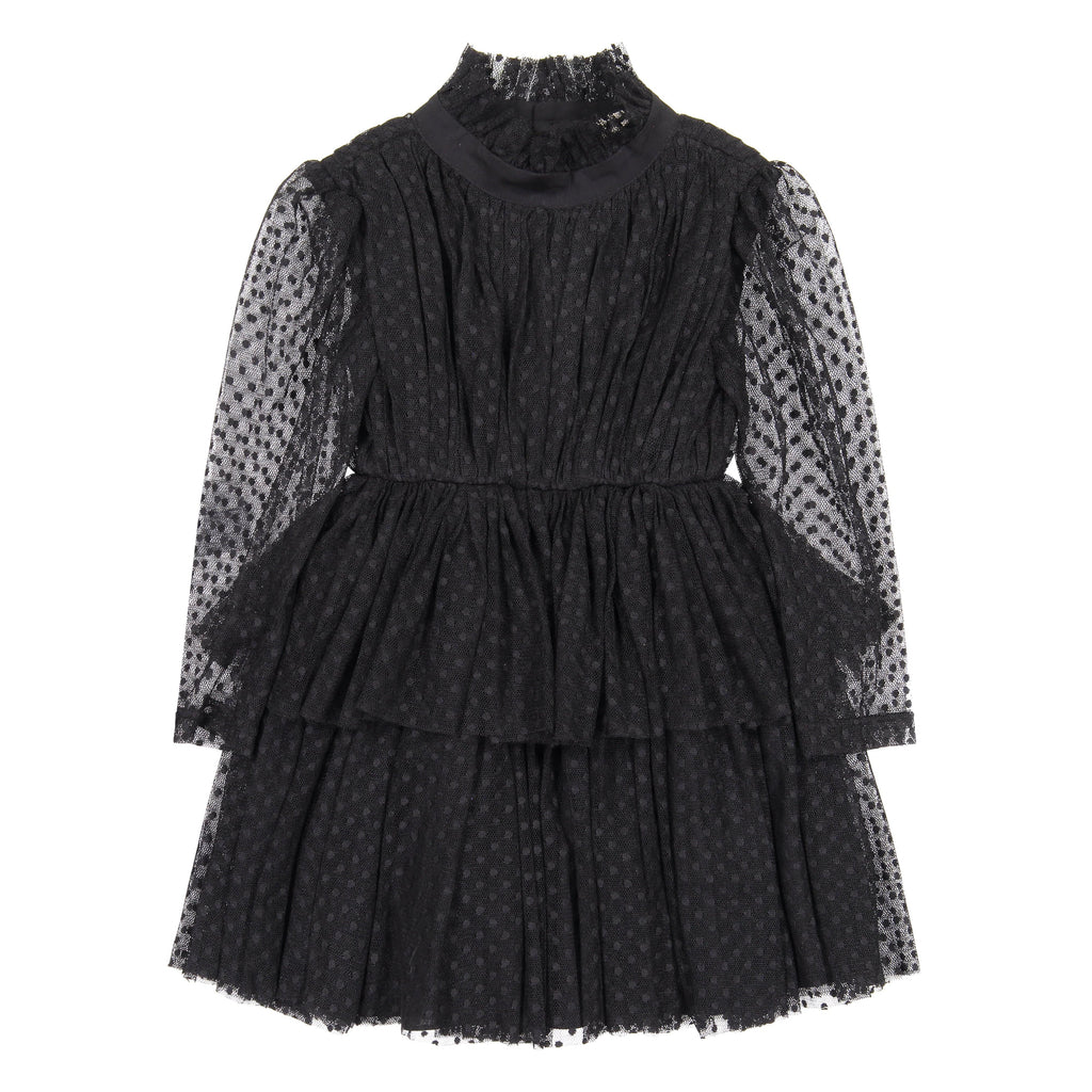 Nove Dress Jellybeanzkids Nove Dotted Tulle Layered Dress