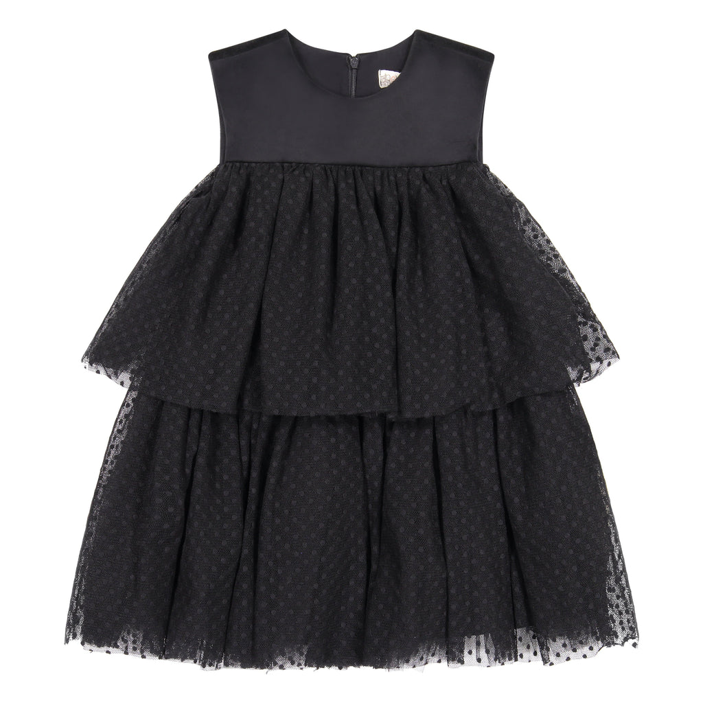 Nove Dress Jellybeanzkids Nove Dotted Tulle Sleeveless Dress
