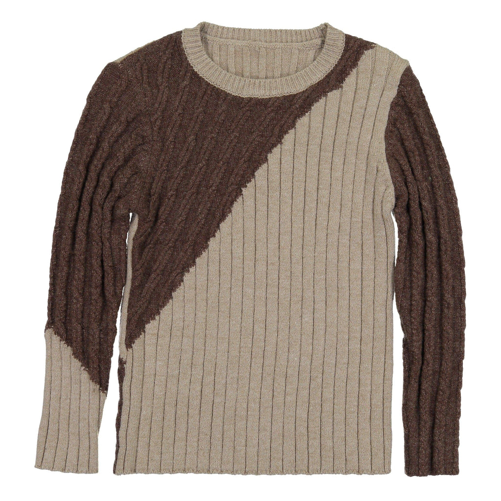 Nove Sweater Jellybeanzkids Nove Brown Cable Sweater