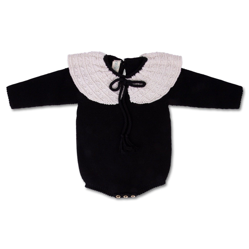 Nueces Romper Jellybeanzkids Nueces Knit Collar Romper