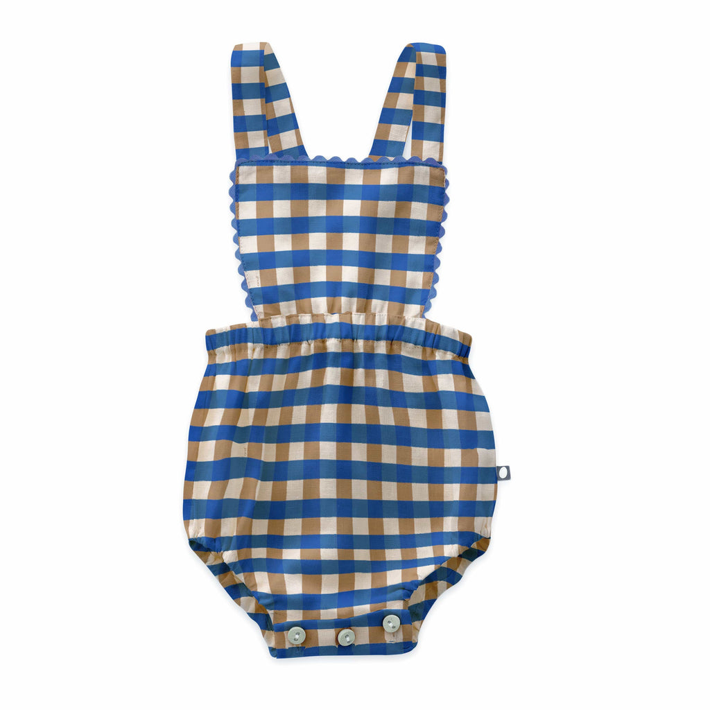 Oeuf Romper Jellybeanzkids Oeuf Checked Ric Rac Playsuit