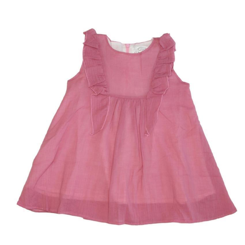 Opililai Pink Crepe Dress  JellyBeanz Kids